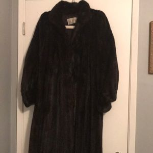 Women's 3/4  length ranch mink coat